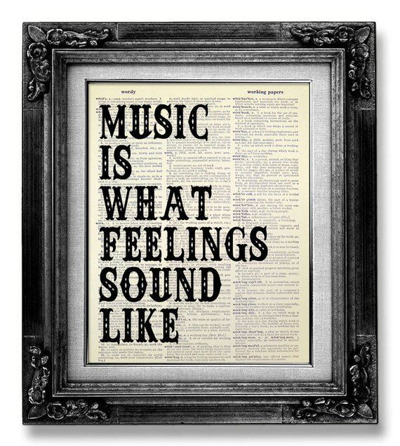 Music Wall QUOTE, MUSIC Wall Saying, Music Wall Art, ROCK Music Art Music Poster, Gift for Music Lov images