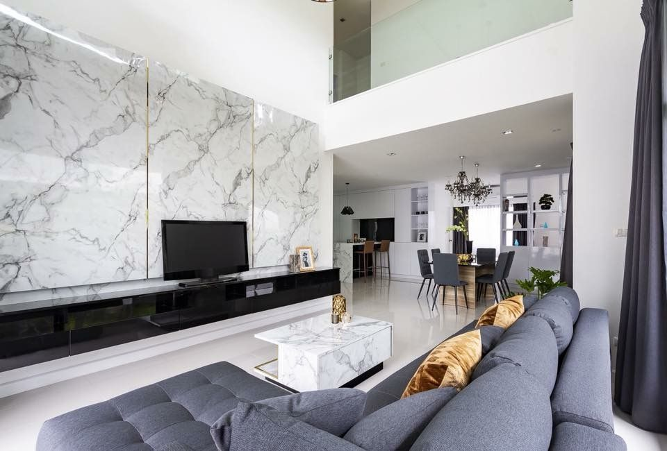 Marble pattern for living room wall (With images)   Living ...