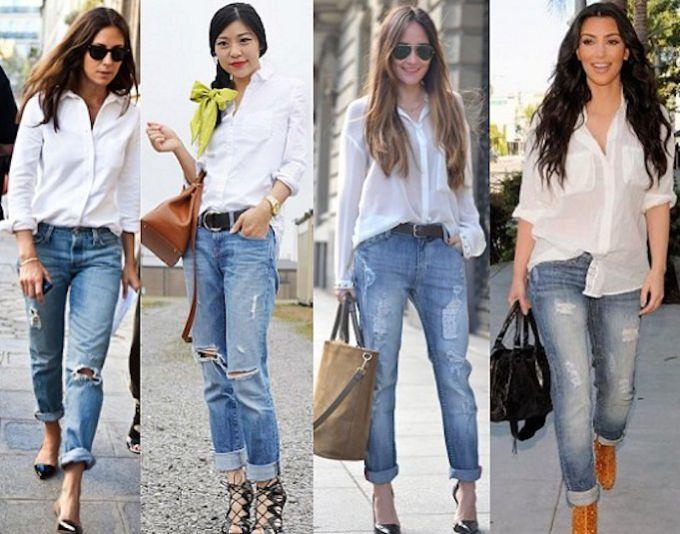 Как носить рубашку с джинсами  5 модных вариантов  37c99fb31ac36