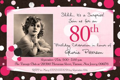 ladies 80th birthday party ideas lady s polka dot photo birthday