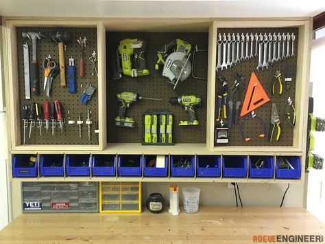 Free And Easy DIY Project Plans Showing You Exactly How To Build A Wall  Cabinet That. Garage WorkshopWorkshop IdeasWorkshop StorageCabinet ...