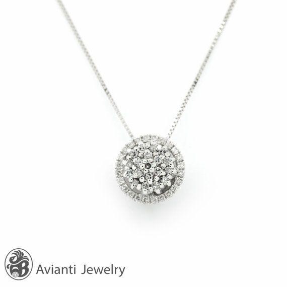 Single halo diamond pendant diamond cluster pendant diamond single halo diamond pendant diamond cluster pendant diamond necklace round diamond pendant with chain nec01594 aloadofball Image collections
