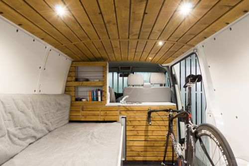 vw t5 transporter campingbus ausbau mit fahrrad camper. Black Bedroom Furniture Sets. Home Design Ideas