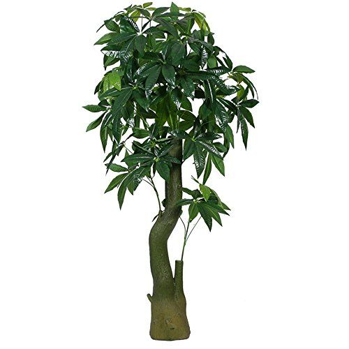 Artificial Plants Money Tree Large Silk Green Leaves Pachira Macrocarpa 155cm Tall With No Pot480 Continue To The Product At Image Link