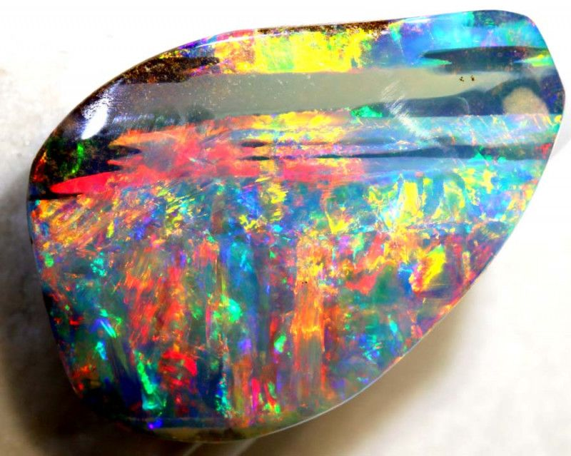 30.80CTS-QUALITY BOULDER OPAL POLISHED STONE-KO-15  #opals #fireopals #opalauctions