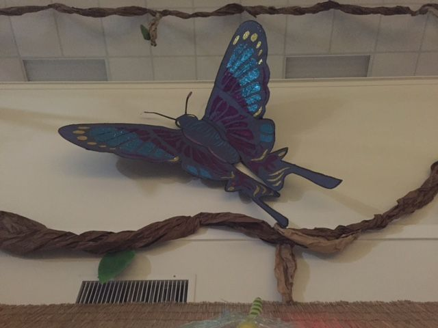 Gaint Buttlerfly makes a big impact when you add some glitter!  Every VBS needs some Bling!