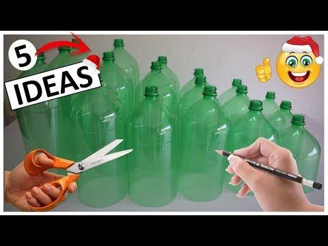 5 Manualidades Faciles Y Rapidas Con Botellas Plasticas Para Navidad