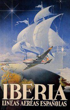 Amazon com: IBERIA AIRPLANE PLANE GLOBE SAILBOAT EUROPE