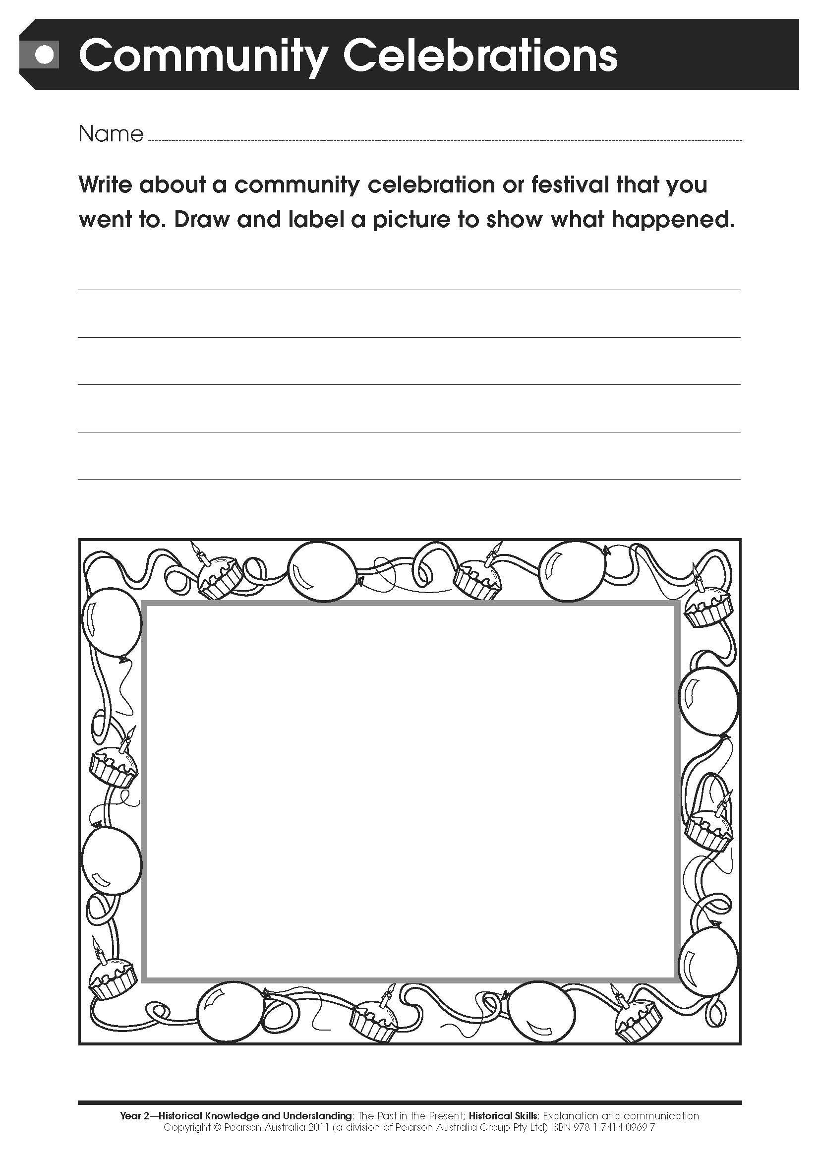 worksheet Pearson Editable Worksheets free worksheet a family celebration for middle primary students community celebrations lower this has been taken from