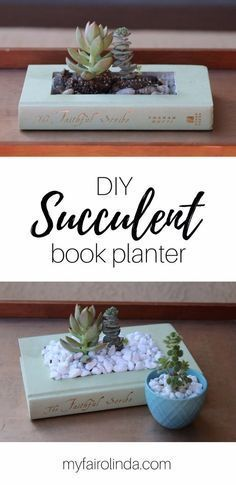 Cool Gifts to Make For Mom - DIY Succulent Book Planter - DIY Gift Ideas and Christmas Presents for Your Mother, Mother-In-Law, Grandma, Stepmom - Creative , Holiday Crafts and Cheap DIY Gifts for The Holidays - Thoughtful Homemade Spa Day Gifts, Creative Wall Art, Special Ideas for Her - Easy Xmas Gifts to Make With Step by Step Tutorials and Instructions  cheapholiday #budgetholiday #cheapchristmas #familyholiday #christmasmom #homemadechristmas #giftsforstepmom #diymother'sdaygiftsforgrandma