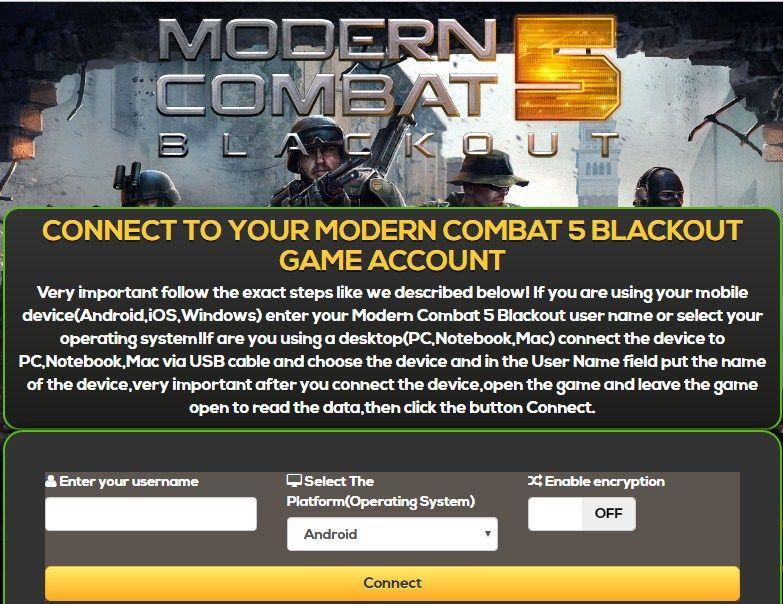 modern combat 5 free credits no survey