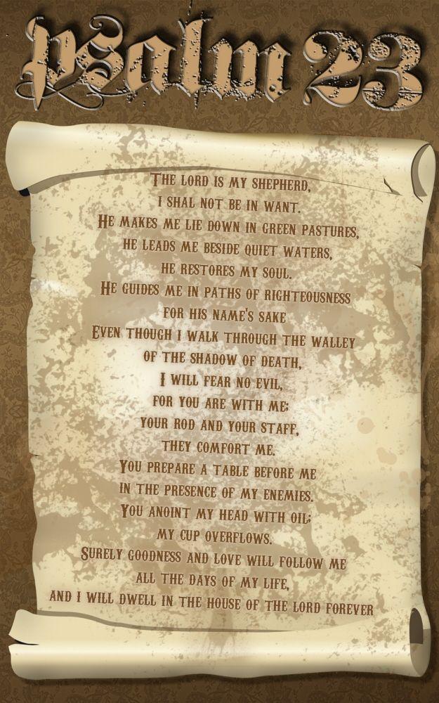 Psalm 23  Recited during spell work  | Hoodoo, Voodoo