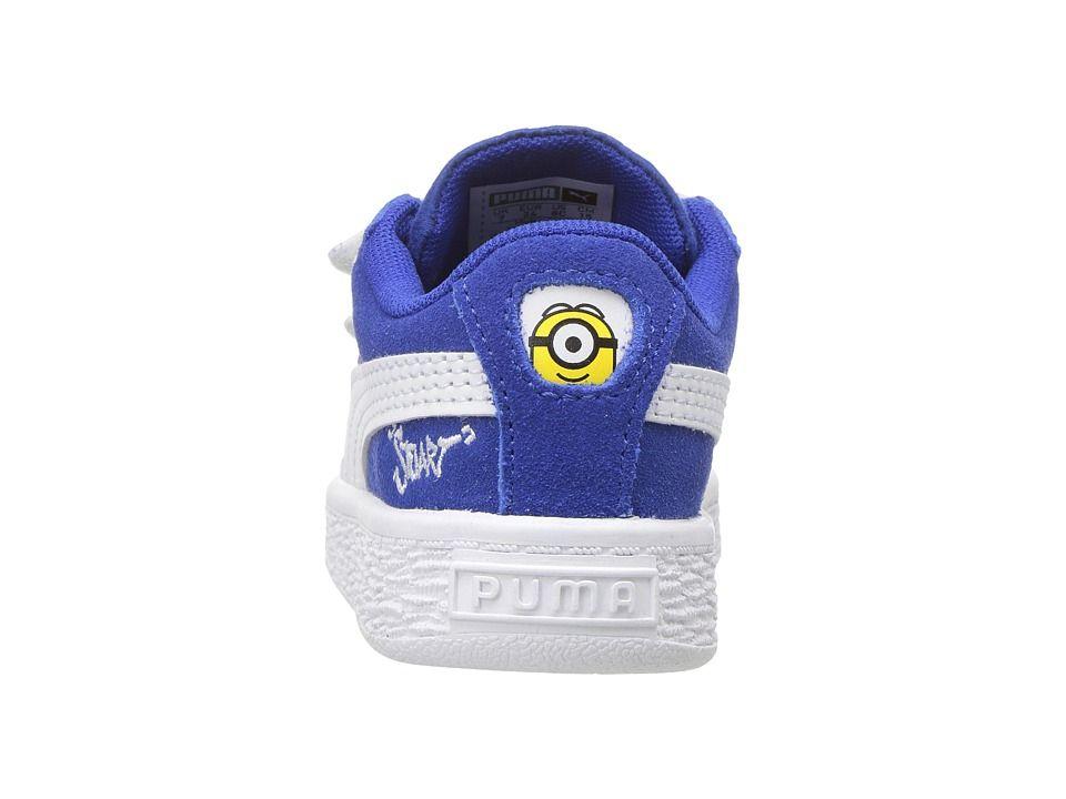 5a8ae795e79 Puma Kids Minions Suede V (Toddler) Kids Shoes Olympian Blue PUMA ...