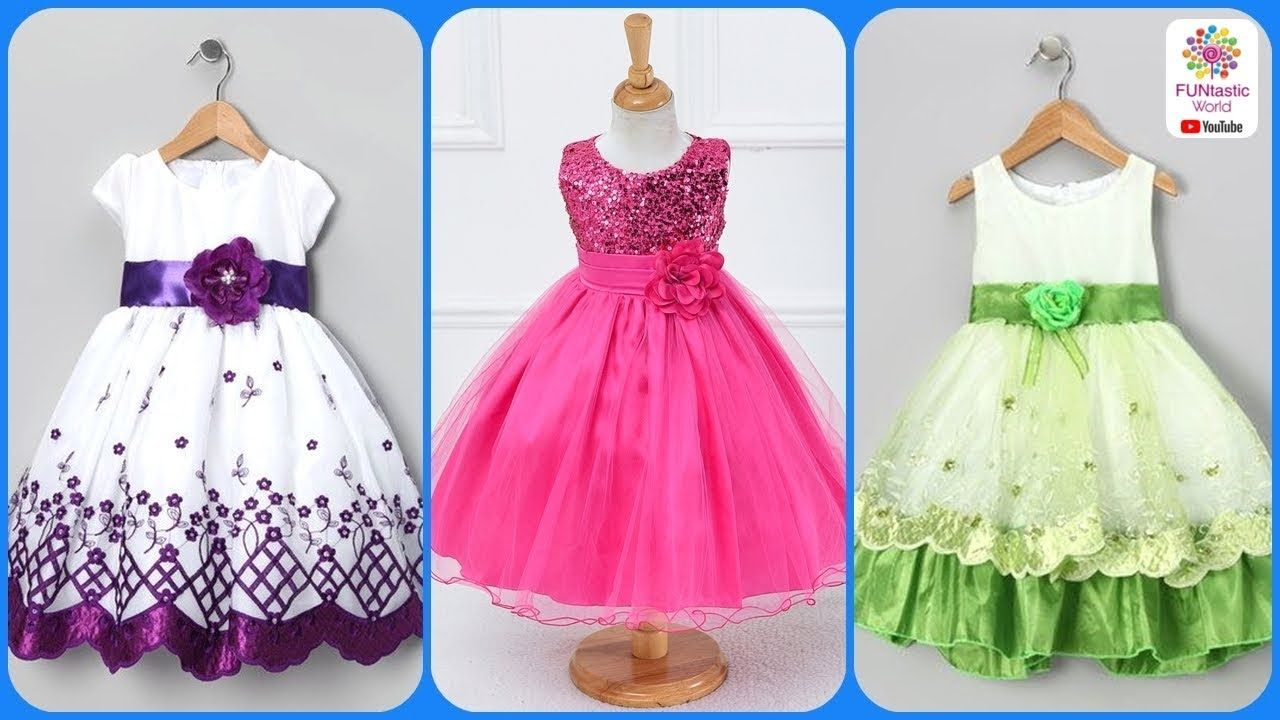 f1cb91f3bd96 Latest Kids Party Wear Dresses Frocks