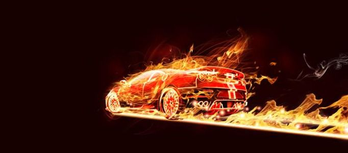 Photoshop Tutorial: Create a Super Fire Effect for a Car