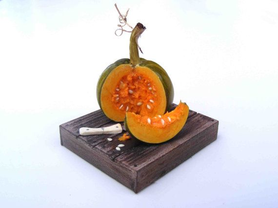 Pumpkin cut by hungarianminiatures on Etsy