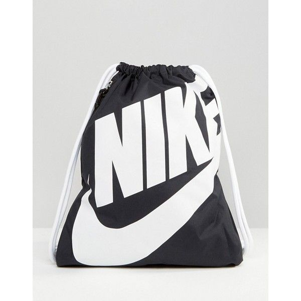 5f121c1a1a9 Nike Heritage Drawstring Backpack ( 20) ❤ liked on Polyvore featuring bags,  backpacks, drawstring bag, rucksack bags, day pack backpack, draw string bag  ...