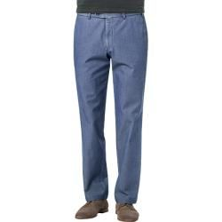 Photo of Hiltl men's chinos, Cesano, classic fit, cotton, denim blue Hiltl