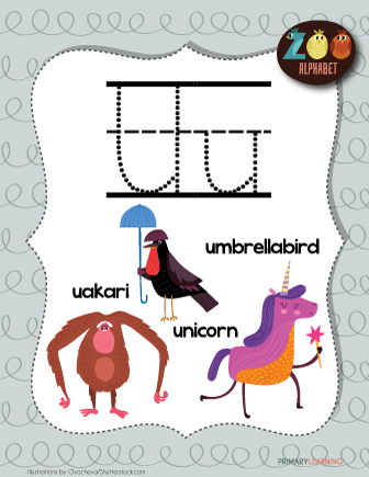 Letter U Animals Printable Poster Primarylearning Org Animals Starting With U Alphabet Letter Hunt Lettering