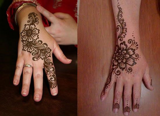 Easy Mehndi Patterns To Copy : Very simple easy best mehndi patterns for hands feet