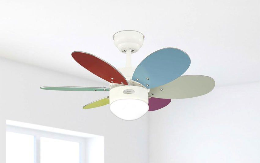 Colorful Ceiling Fan Making Both Children And Adults Happy