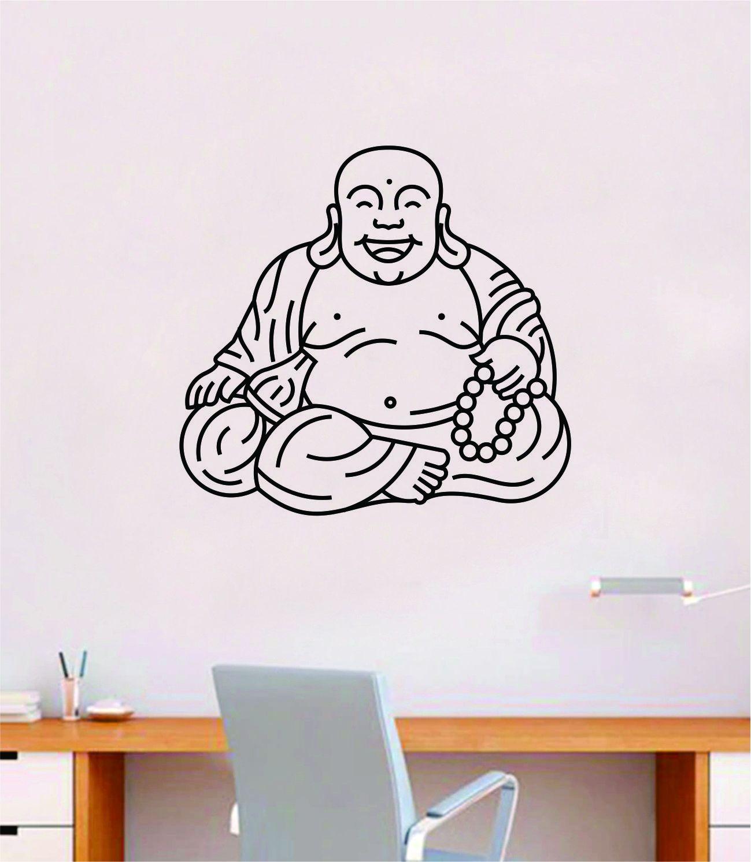 Buddha V5 Quote Wall Decal Sticker Decor Vinyl Art Bedroom Teen Good Vibes Happy Yoga Namaste Meditate - teal