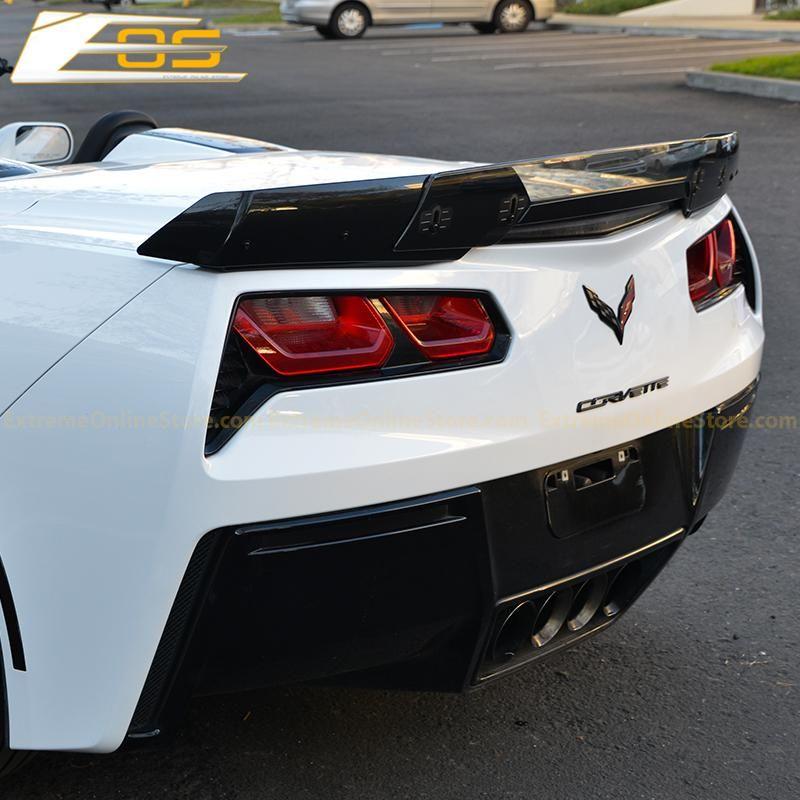 Corvette C7 Wicker Bill Wickerbill Rear Spoiler Extension Light Tinted Extremeonlinestore Corvette C7 Corvette Corvette C7 Stingray