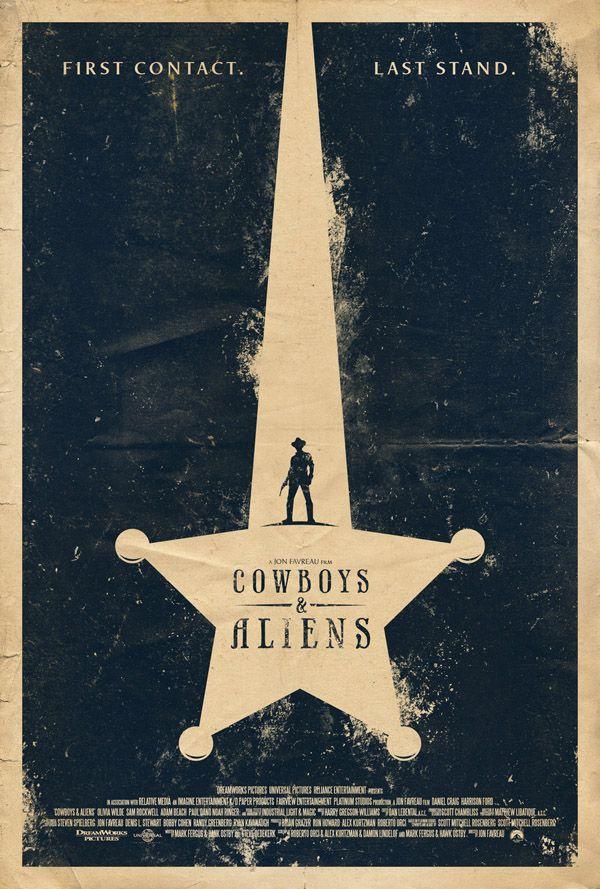 Cowboys Vs Aliens Cowboys Aliens Movie Posters Design Vintage Poster Design