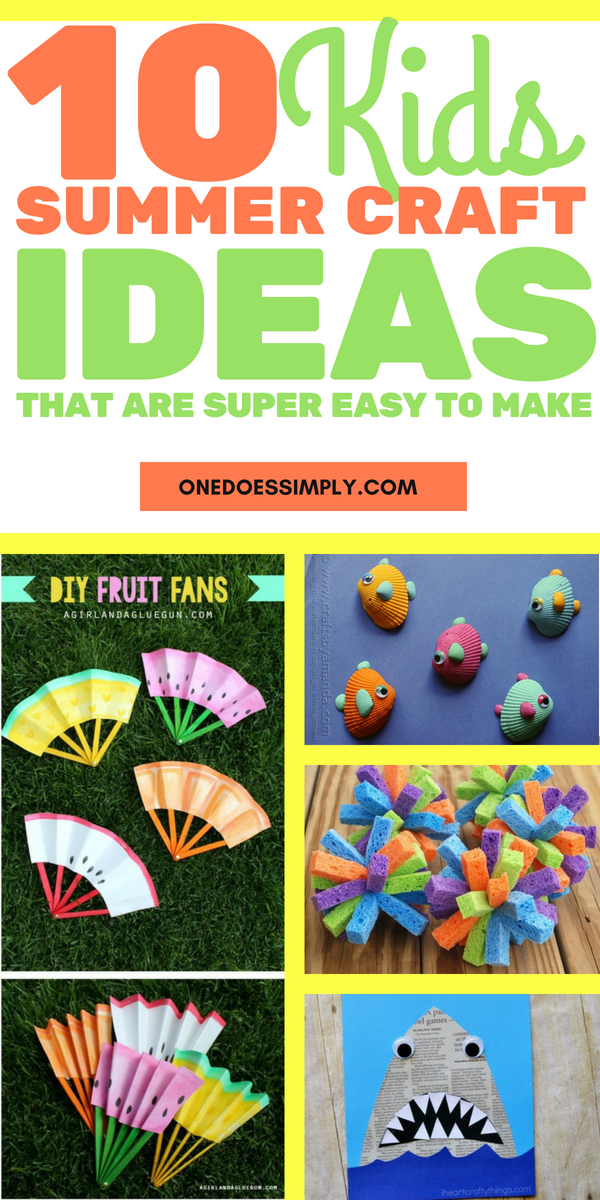 10 Summer Crafts for Kids That Are Super Easy to Make is part of Cool Kids Crafts For Boys - Almost everyone loves summer, including kids  The sun is shining, the air is warm, and the vacation is waiting to be spent joyfully  In these free time of summer, you can spend time together with your kids to make some crafts  Kids love cute things and you can invite them to make DIY cute things … 10 Summer Crafts for Kids That Are Super Easy to MakeRead More »