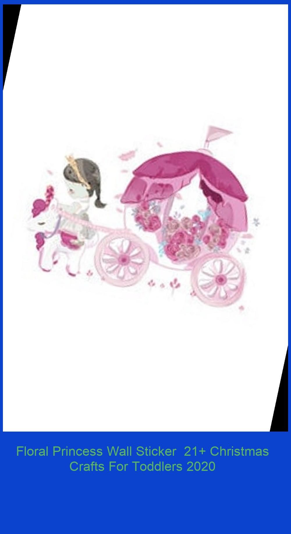 Photo of Floral Princess Wall Sticker  21+ Christmas Crafts For Toddlers 2020