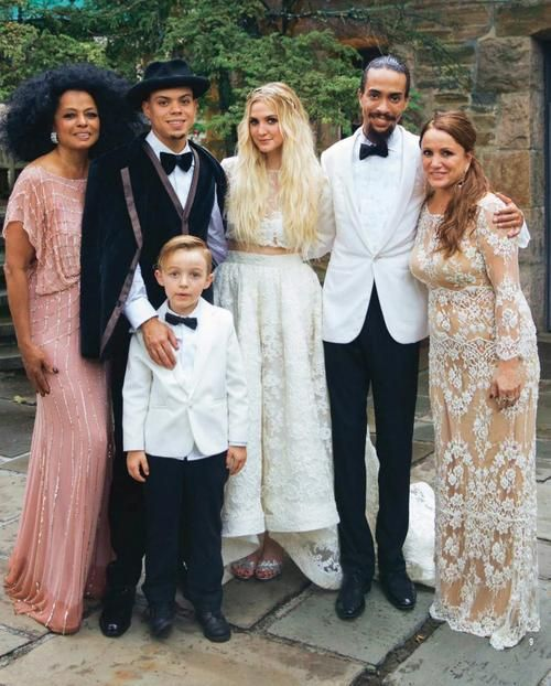 Ashlee Simpson & Evan Ross (August 31, 2014) Gown: Houghton ...