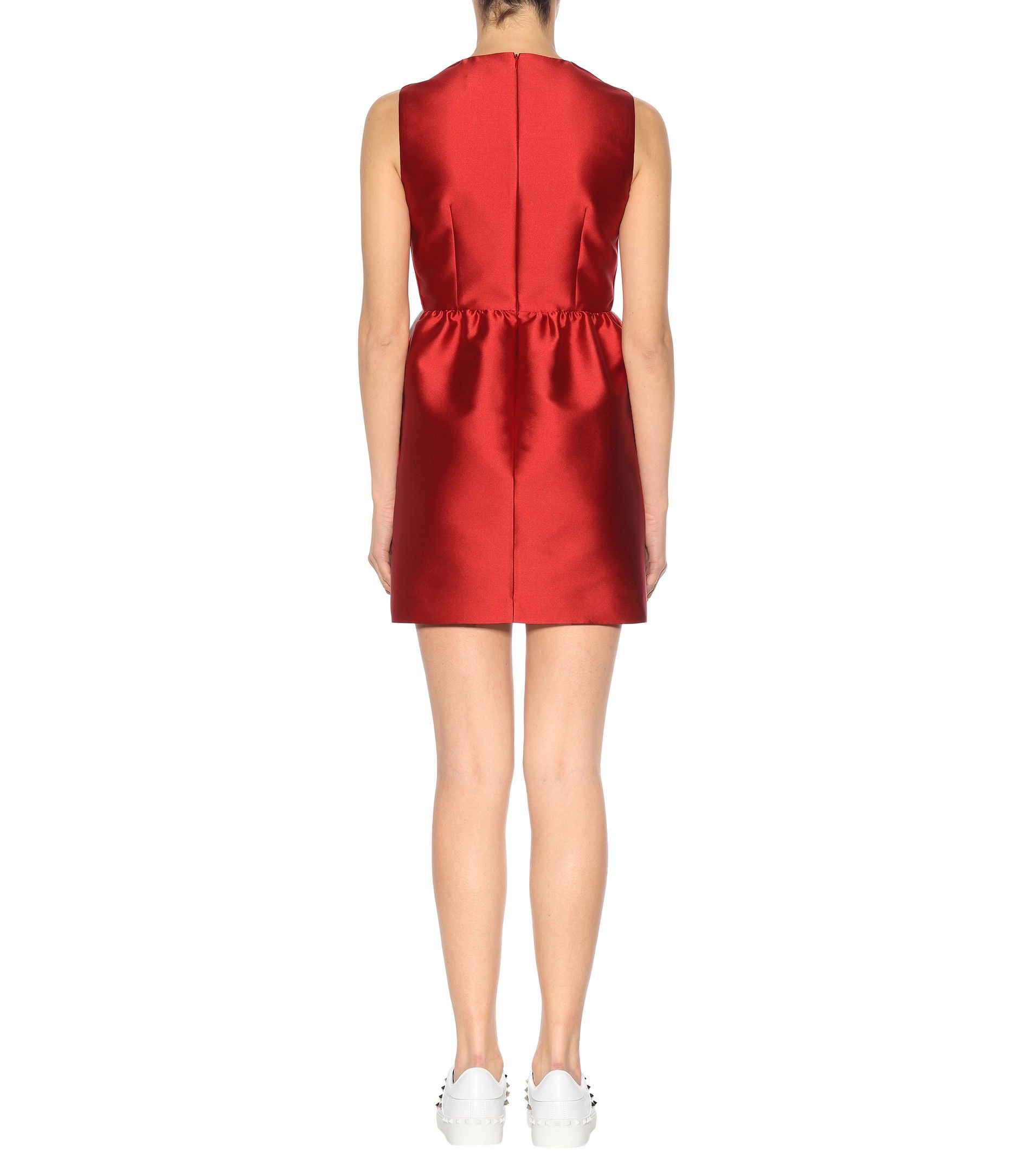 Sleeveless satin dress Red Valentino TeGYI3xJA