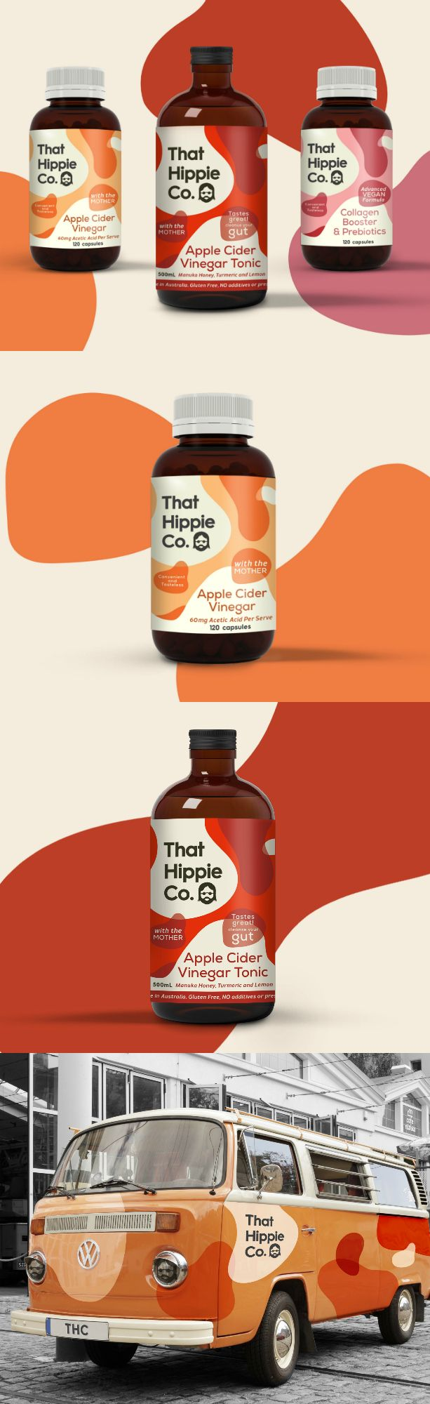 Australian Health Company Hippie Co Packaging Design World Brand Design Food Packaging Design Logo Packaging Design Healthy Food Branding