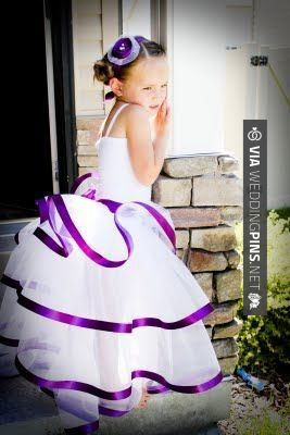 Sweet! - Flower girl. White w/purple for little girls, purple w/ white for big girl...? | CHECK OUT MORE GREAT FLOWER GIRL AND RING BEARER PHOTOS AND IDEAS AT WEDDINGPINS.NET | #weddings #wedding #flowergirl #flowergirls #rings #weddingring #ringbearer #ringbearers #weddingphotographer #bachelorparty #events #forweddings #fairytalewedding #fairytaleweddings #romance