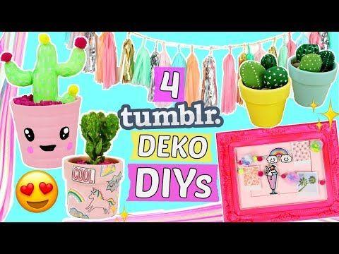 4 Einfache Tumblr Deko Diy Ideen Zimmer Deko Diys Selber Machen Dekorieren Basteln Hacks Youtube Deko Diy Tumblr Diy Sachen