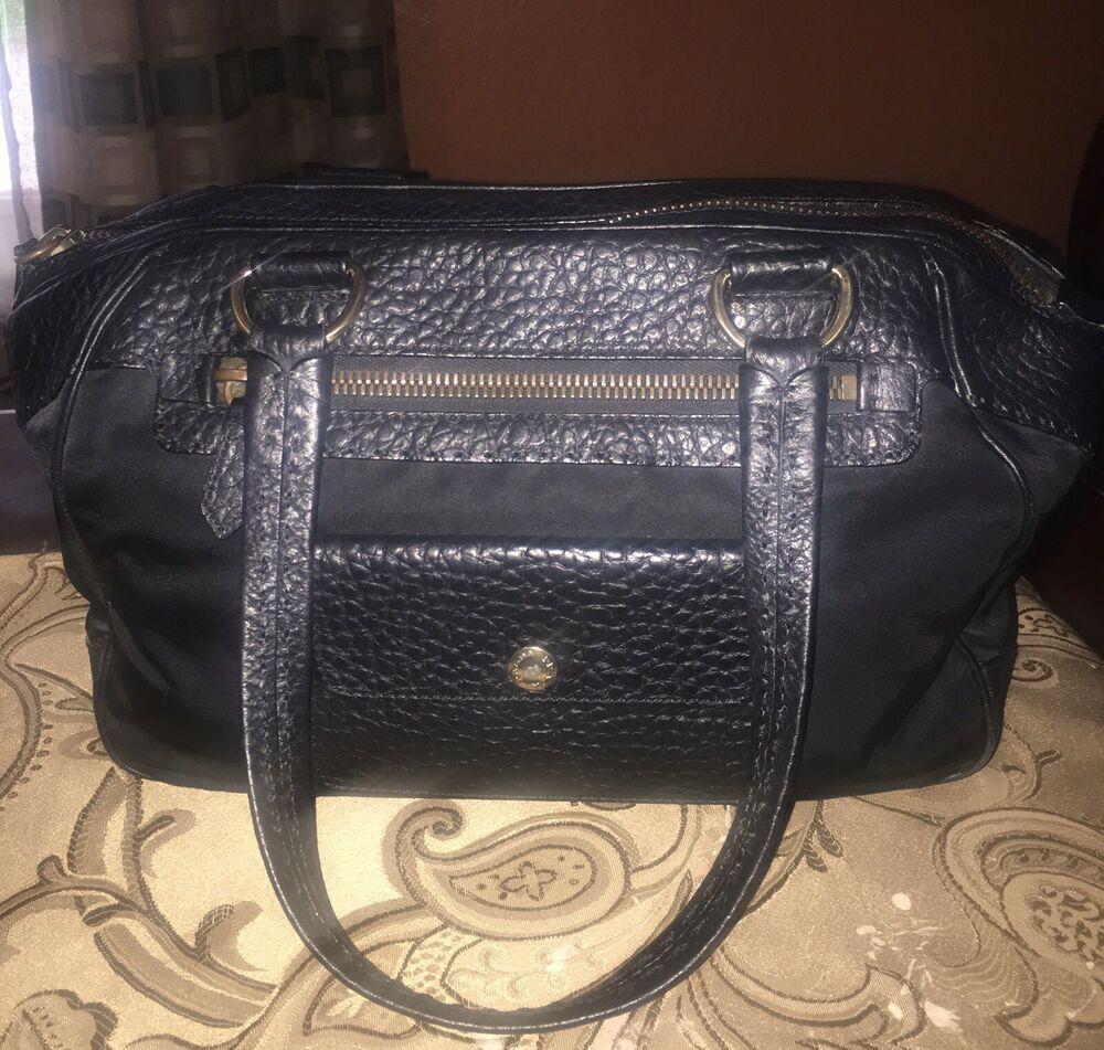 5698aeaef4 PRADA Black Leather Tessuto Nylon Handbag w Sleeper 100% Authentic ...