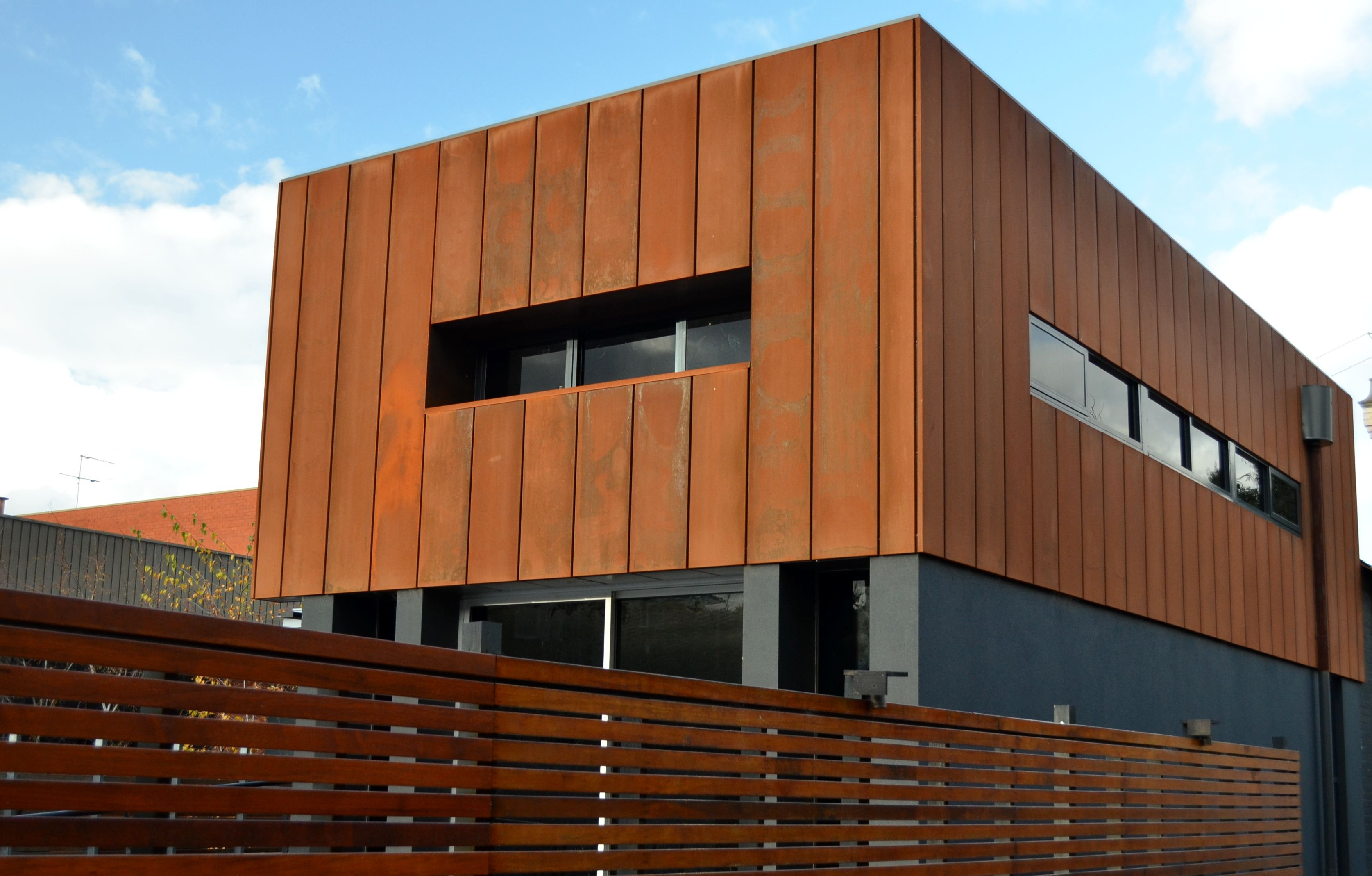 cassette panel corten design cladding architecture. Black Bedroom Furniture Sets. Home Design Ideas