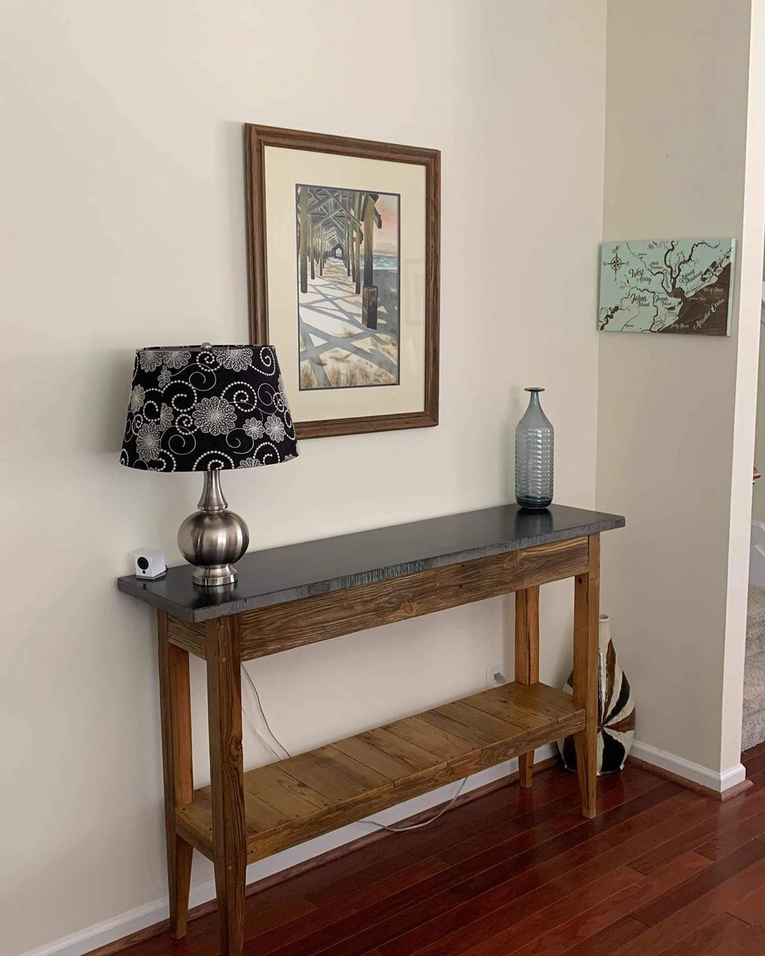 Landrum Tables On Instagram Stone Top Console Table Base Made From Old Reclaimed Charleston Docks We Have Two Available Me Console Table Table Home Decor