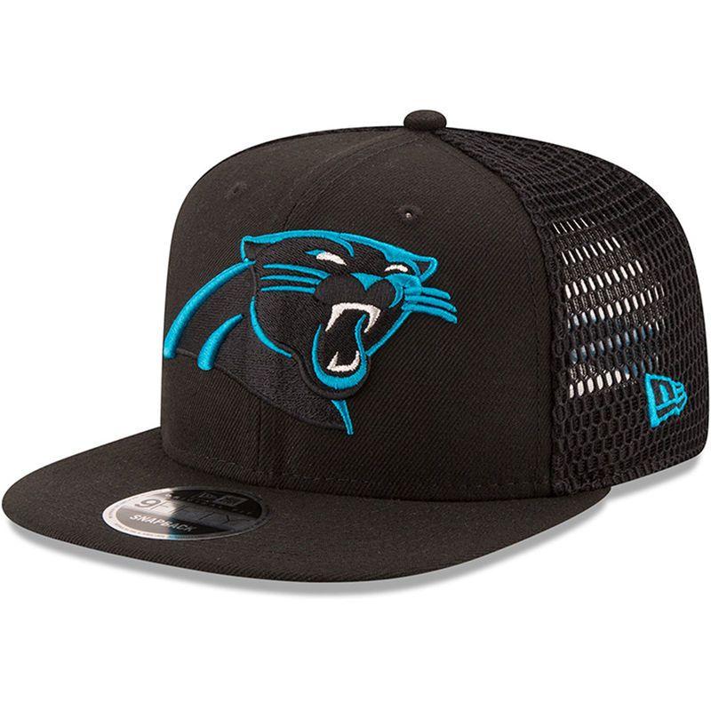 Carolina Panthers New Era Mesh Fresh 9FIFTY Adjustable Hat - Black ... 6ad93555d0fc