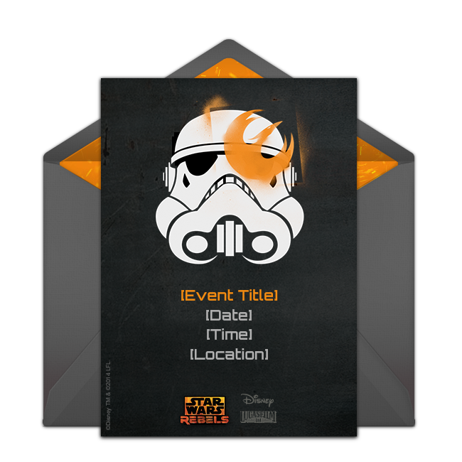 Free Star Wars Rebels Birthday Invitations Your Fan Will Love These Online That Make A Great Digital Alternative To DIY Paper