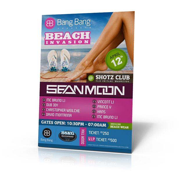 Beach Invasion Flyer