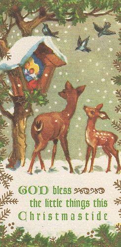 Vintage Brownie Christmas Card