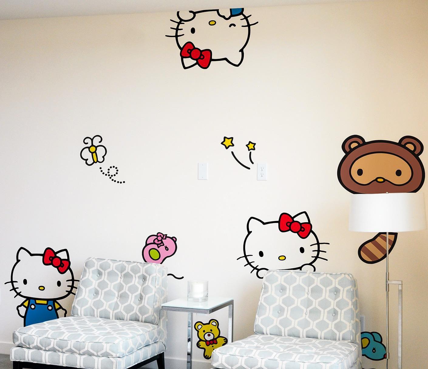 Blik X Hello Kitty Wall Decals Hide Seek We Spy Hello Kitty And