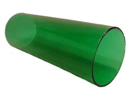 "Emerald Green Glass Cylinder Tube.  Danish Modern Style Lighting Replacement Lampshade cover for use in Antique, Vintage or Contemporary Wall Sconce, Chandelier, Hanging Pendant Light Fixture, Candle Holders. 3"" X 8"""
