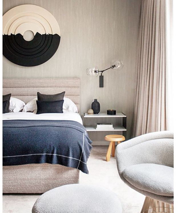 Neutral bedroom decor with modern features Pin