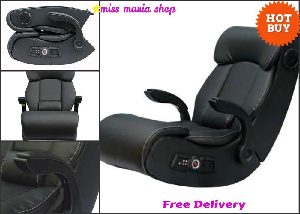 X Rocker Gaming Chair Pro Bluetooth Audio Sound PS4 Xbox Foldable Seat