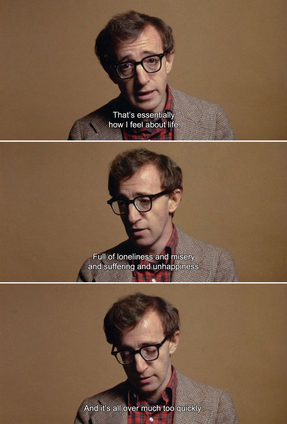 Annie Hall 1977 Alvy That S Essentially How I Feel About