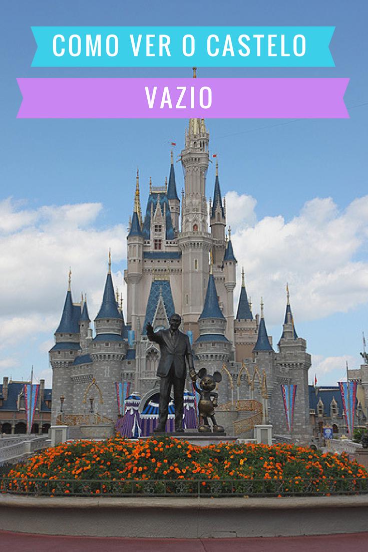 9b0ad953c7 Confira como ver o Castelo da Cinderela vazio no parque Magic Kingdom em  Orlando  orlandoviagem