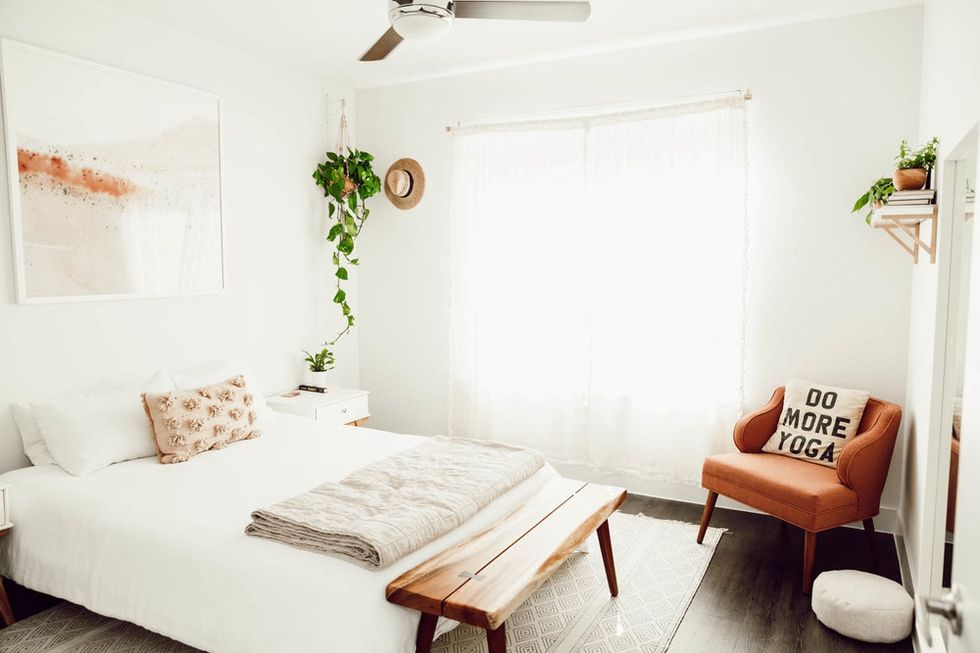 Behind the Design A Dreamy Boho Bedroom Makeover is part of Boho bedroom Art - When Jules Hunt, the darling matcha and plantloving wellness pioneer behind healthy living blog Om & The City, recently asked us for help designing her new onebedroom apartment in Austin, Texas,