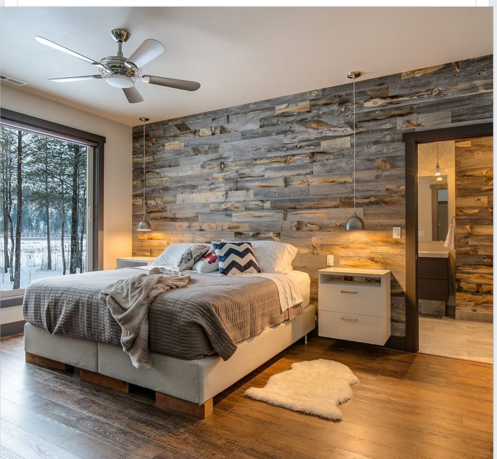 Trim, Light, Bed Frame, Back Wall Wall Wood, Master Bedroom Wood Wall